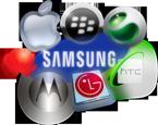 Logo Marques Appel Samsung Blackberry Sony Ericsson HTC LG Motorola Huawei