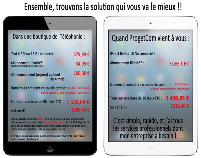 Petit Calcul Offre Progetcom exemple Apple iPad